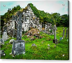 Graveyard And Church Ruins On Ireland's Mizen Peninsula Acrylic Print