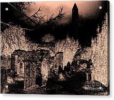 Graveyard At Night Acrylic Print by Tim Townsend