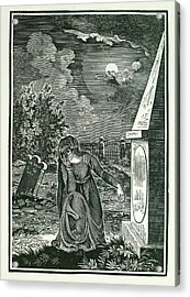 Graveyard Acrylic Print by British Library
