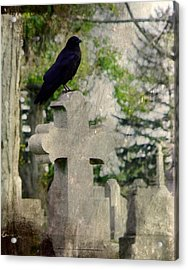 Graveyard Occupant Acrylic Print by Gothicrow Images