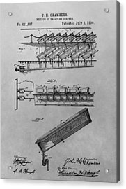 Graveyard Patent Acrylic Print by Dan Sproul