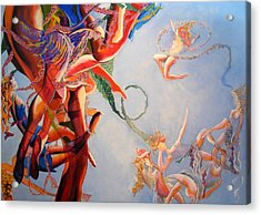 Acrylic Print featuring the painting Gravity by Georg Douglas