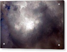 Gray Cloud Acrylic Print by Allen Carroll