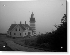 Gray Day In Maine Acrylic Print by Amanda Kiplinger