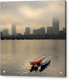 Gray Day On The Charles River Acrylic Print