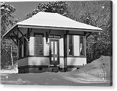 Gray Gables Train Station Acrylic Print by Catherine Reusch  Daley