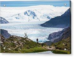 Gray Glacier Acrylic Print by Peter J. Raymond