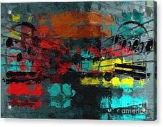 Acrylic Print featuring the digital art Gray Green Intermezzo by Lon Chaffin