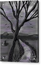 Ptg.    Gray Landscape Acrylic Print