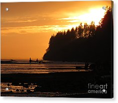 Grays Harbor Sunset I Acrylic Print by Gayle Swigart