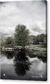 Grays Mill Pond Acrylic Print by Angela DeFrias