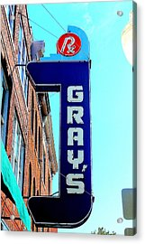 Gray's Rx Acrylic Print by Anthony Jones