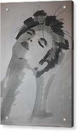 Acrylic Print featuring the drawing Graytone by Steve Godleski