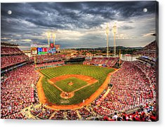 Great American Ballpark Acrylic Print by Shawn Everhart