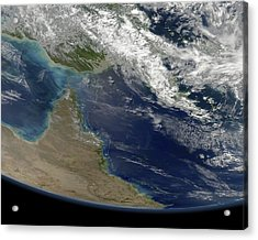 Great Barrier Reef, Satellite Image Acrylic Print by Science Photo Library