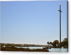 Great Cross - Nombre De Dios - St Augustine Acrylic Print by Christine Till