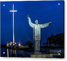 Great Cross St. Augustine Acrylic Print by Scott Moore
