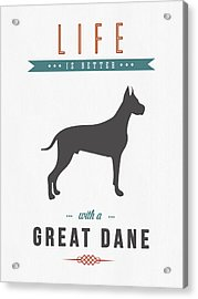 Great Dane 01 Acrylic Print