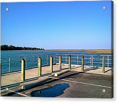 Acrylic Print featuring the photograph Great Day For Fishing In The Marsh by Amazing Photographs AKA Christian Wilson