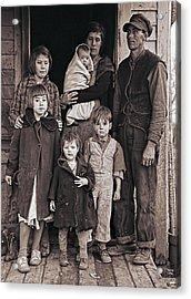 Great Depression Iowa Farm Family  1936 Acrylic Print
