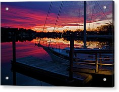 Great Egg Harbor River Sunset Acrylic Print