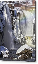 Great Falls And A Rainbow Acrylic Print