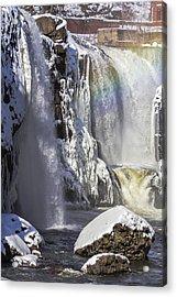 Great Falls And A Rainbow Acrylic Print