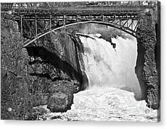 Great Falls In Paterson Nj Acrylic Print by Anthony Sacco