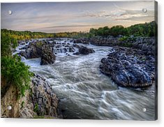 Acrylic Print featuring the photograph Great Falls  by Michael Donahue