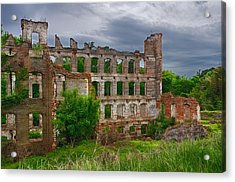 Great Falls Mill Ruins Acrylic Print