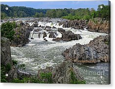 Great Falls Of The Potomac Acrylic Print by Olivier Le Queinec