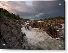 Acrylic Print featuring the photograph Great Falls Rugged Beauty by Bernard Chen
