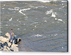 Great Falls Va - 121237 Acrylic Print by DC Photographer