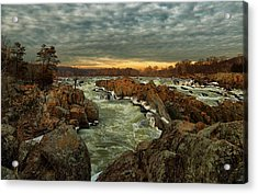 Great Falls Virginia Winter 2014 Acrylic Print
