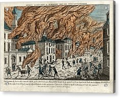 Great Fire Of New York, 1776 Acrylic Print
