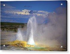 Great Fountain Geyser Acrylic Print by Terry Horstman