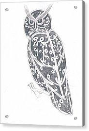 Great Horned Owl  Acrylic Print by Kali Kardsbykali