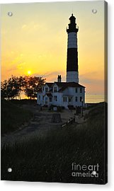 Great Lakes Lighthouse Big Sable Point Acrylic Print by Terri Gostola