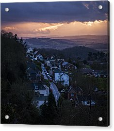 Acrylic Print featuring the photograph Great Malvern Sunset by David Isaacson