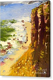 Acrylic Print featuring the painting Great Ocean Road by Pamela  Meredith