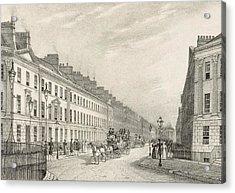 Great Pultney Street, Bath, C.1883 Acrylic Print by R. Woodroffe