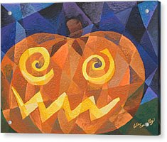 Great Pumpkin Acrylic Print by Lola Connelly
