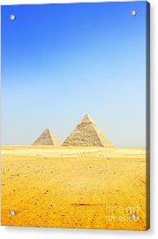 Great Pyramid Of Giza Acrylic Print by Mohamed Elkhamisy