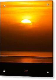 Great Salt Lake Sunset Acrylic Print by Kirk Strickland