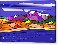 Great Sand Dunes Acrylic Print by Randall Henrie