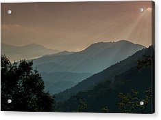 Acrylic Print featuring the photograph Great Smoky Mountains Blue Ridge Parkway by Patti Deters