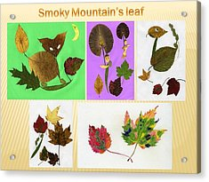 Acrylic Print featuring the painting Great Smoky Mountain's Leaf by Ping Yan
