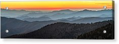 Great Smoky Mountains National Park Sunset Acrylic Print