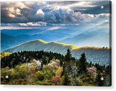 Great Smoky Mountains National Park - The Ridge Acrylic Print by Dave Allen