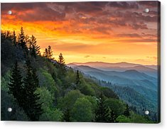 Great Smoky Mountains North Carolina Scenic Landscape Cherokee Rising Acrylic Print